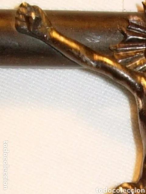 Arte: Escultura Cristo en Cruz, siglo XVIII plata de ley y madera - Foto 8 - 180038103