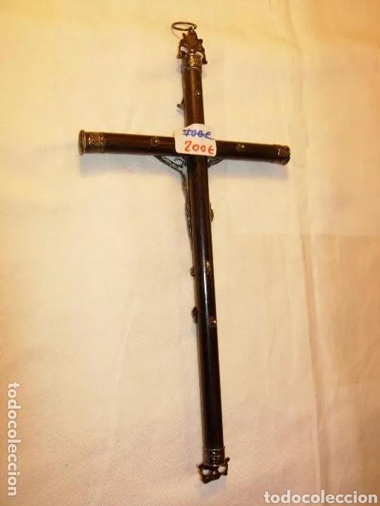 Arte: Escultura Cristo en Cruz, siglo XVIII plata de ley y madera - Foto 10 - 180038103