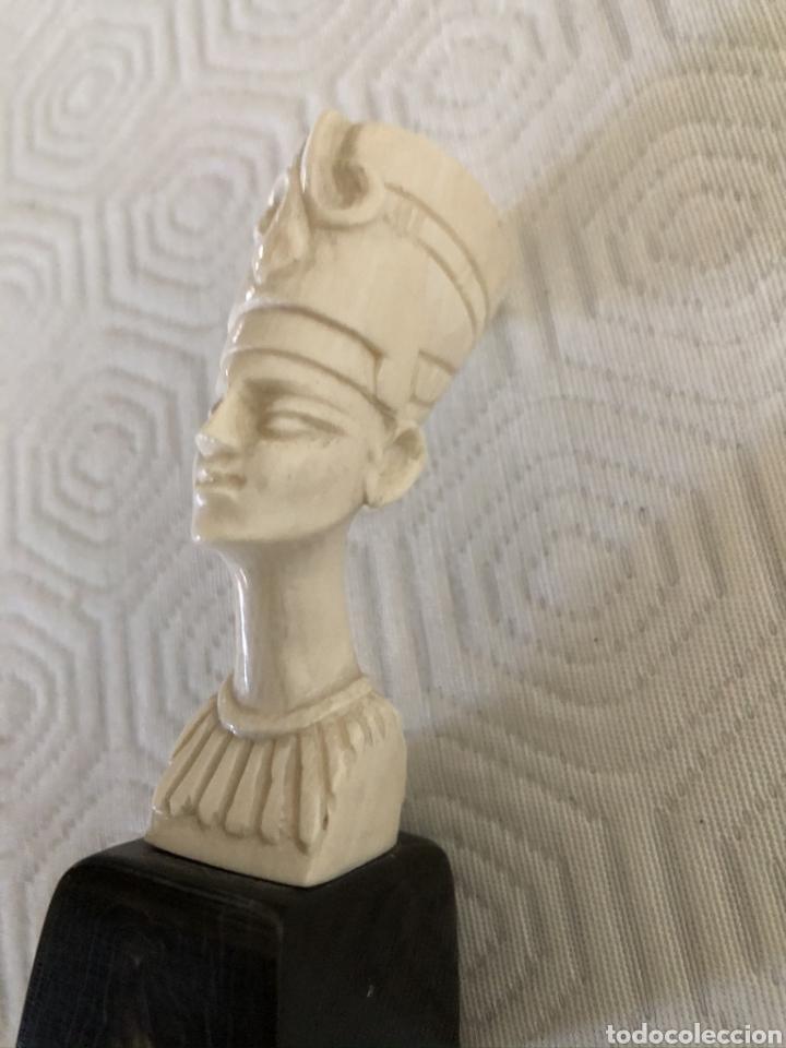 Arte: Busto egipcio. Parece de marfil / marfilina. - Foto 2 - 180142346