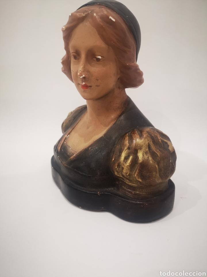 Arte: Escultura modernista en yeso policromado, firmada CF 19cm - Foto 2 - 181193163