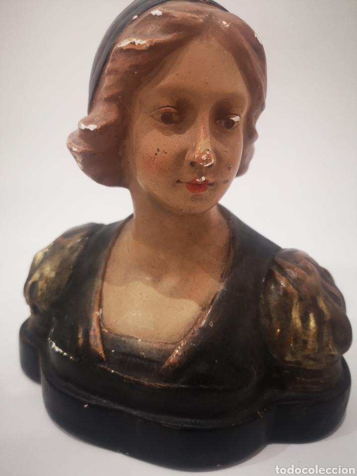 Arte: Escultura modernista en yeso policromado, firmada CF 19cm - Foto 5 - 181193163