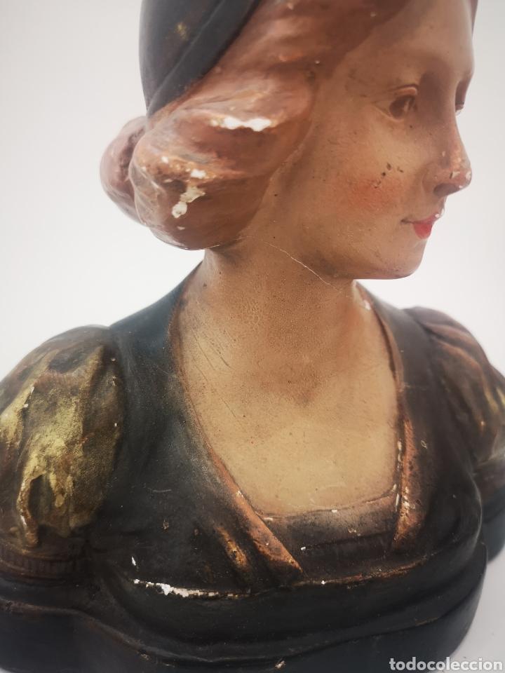Arte: Escultura modernista en yeso policromado, firmada CF 19cm - Foto 8 - 181193163