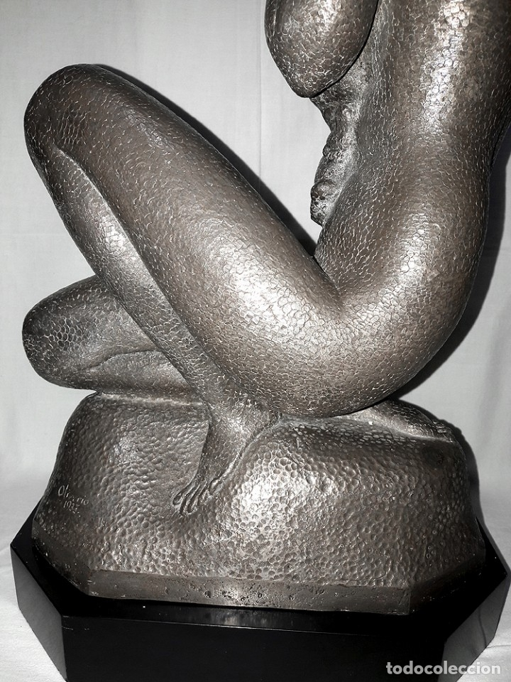 Arte: GRAN ESCULTURA ART DECO DE PLATA-OLIVERIO MARTÍNEZ DE HOYOS 1933 MÉXICO-EL ESCULTOR DE LA REVOLUCIÓN - Foto 10 - 181619501