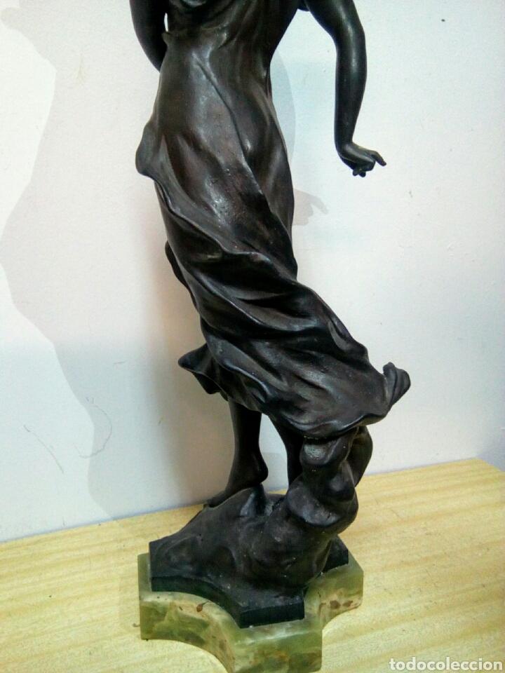 Arte: Escultura Art Nouveau , Firmada Tairo, París ( Papillons) - Foto 2 - 182160430
