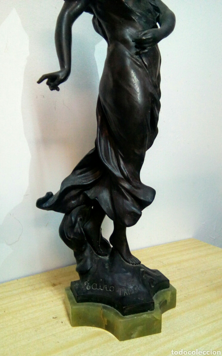 Arte: Escultura Art Nouveau , Firmada Tairo, París ( Papillons) - Foto 3 - 182160430
