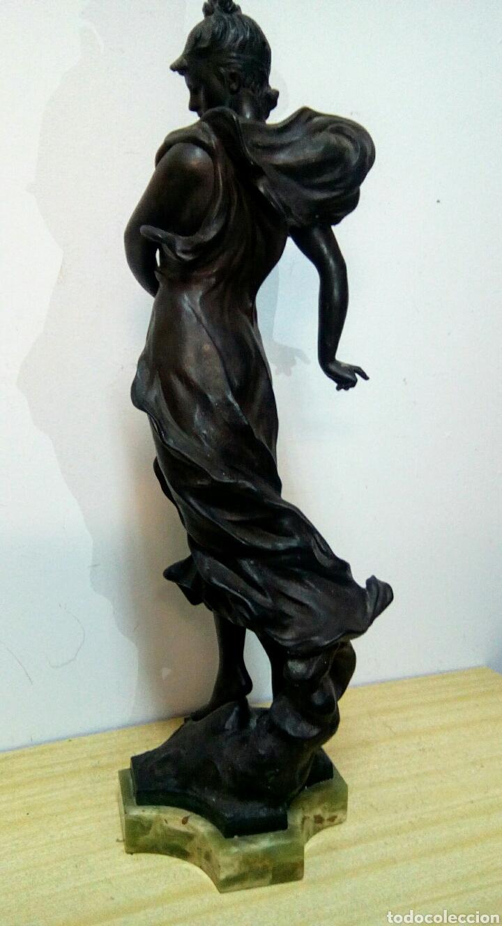Arte: Escultura Art Nouveau , Firmada Tairo, París ( Papillons) - Foto 4 - 182160430