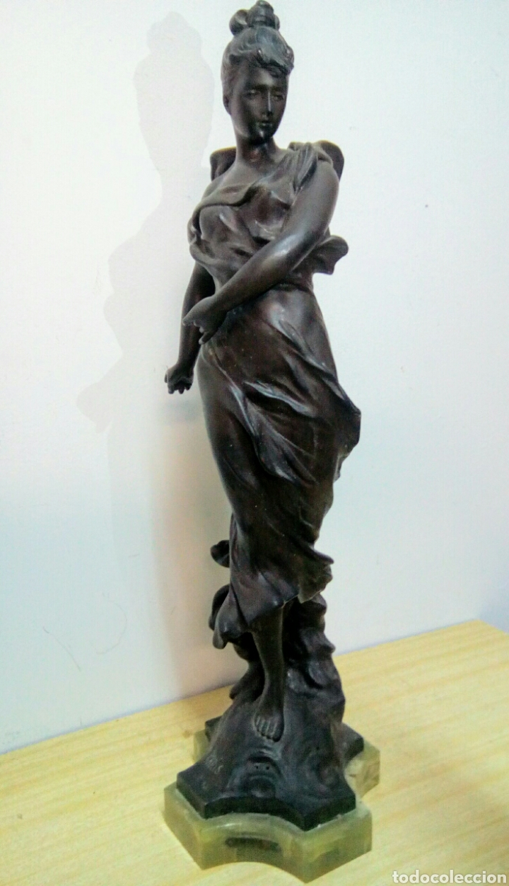 Arte: Escultura Art Nouveau , Firmada Tairo, París ( Papillons) - Foto 7 - 182160430