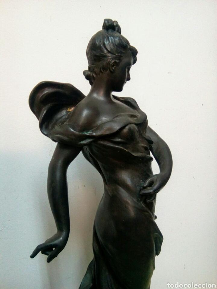 Arte: Escultura Art Nouveau , Firmada Tairo, París ( Papillons) - Foto 10 - 182160430