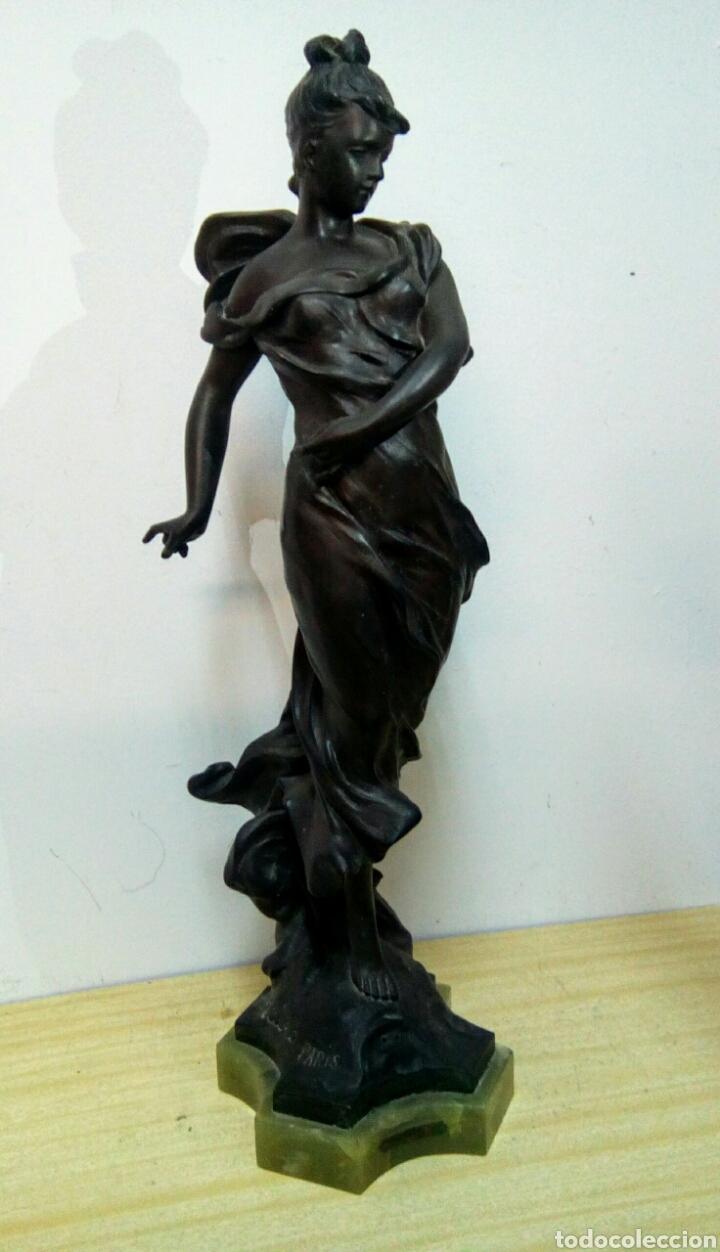 Arte: Escultura Art Nouveau , Firmada Tairo, París ( Papillons) - Foto 18 - 182160430