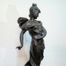 Arte: ESCULTURA ART NOUVEAU , FIRMADA TAIRO, PARÍS ( PAPILLONS). Lote 182160430