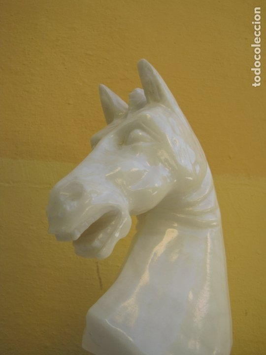 Arte: gran escultura mármol caballo de ajedrez - Foto 2 - 183270061