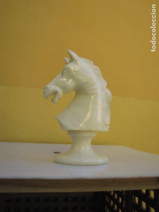 GRAN ESCULTURA MÁRMOL CABALLO DE AJEDREZ (Arte - Escultura - Otros Materiales)
