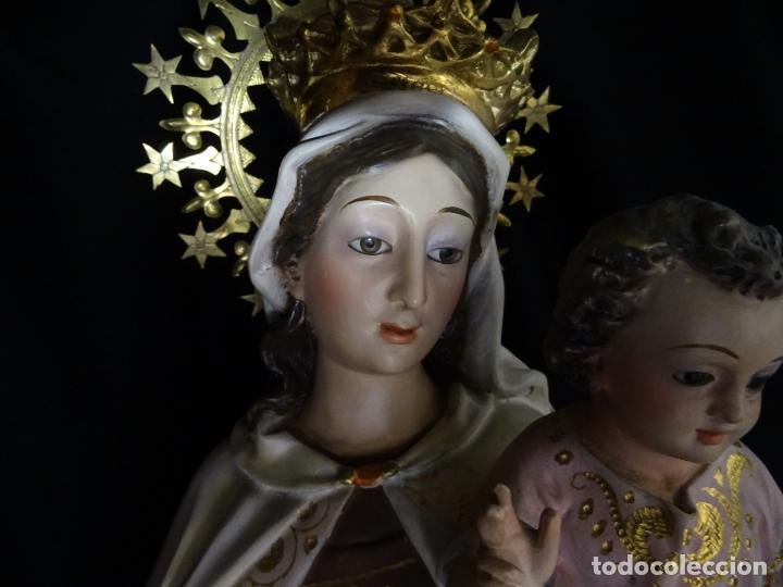 Arte: 72 cmts .-figura virgen del carmen.grande, siglo XX. - Foto 3 - 183680356
