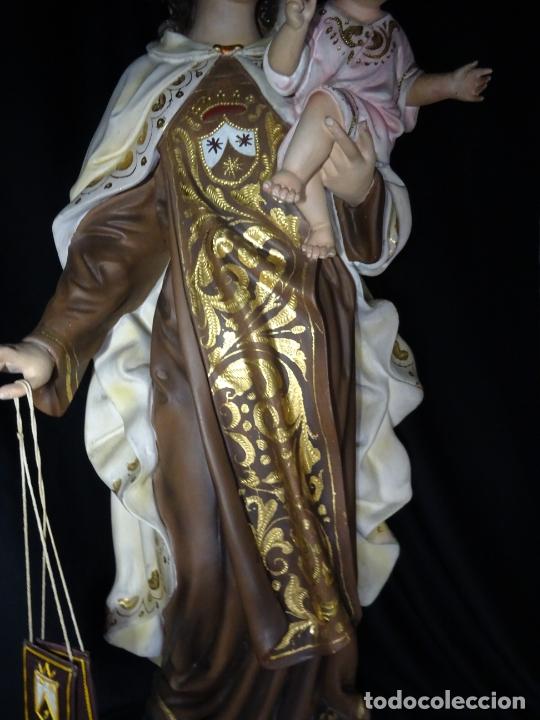 Arte: 72 cmts .-figura virgen del carmen.grande, siglo XX. - Foto 4 - 183680356
