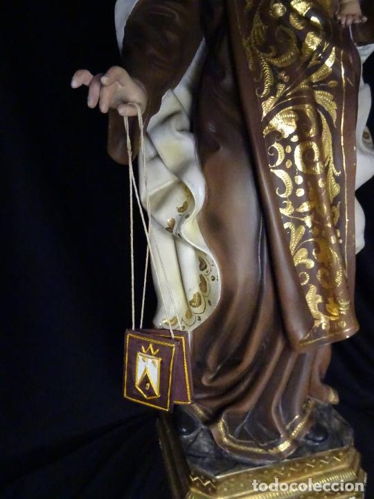 Arte: 72 cmts .-figura virgen del carmen.grande, siglo XX. - Foto 9 - 183680356