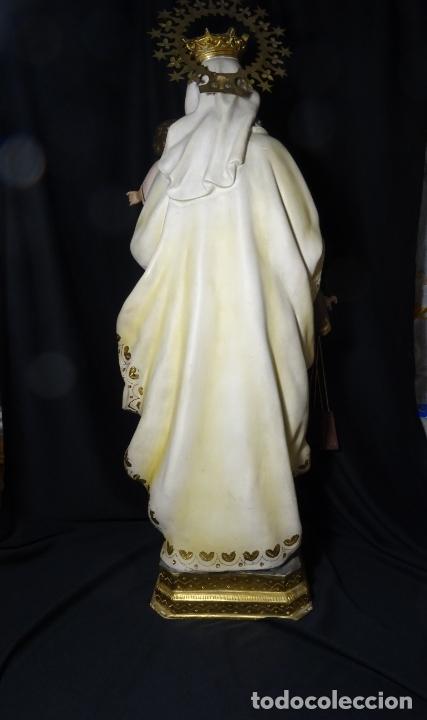 Arte: 72 cmts .-figura virgen del carmen.grande, siglo XX. - Foto 20 - 183680356