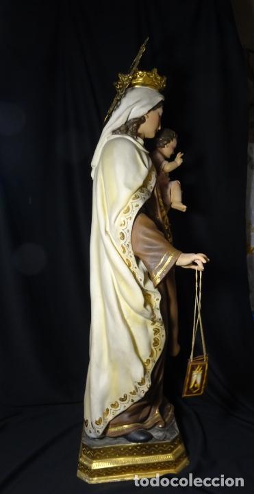 Arte: 72 cmts .-figura virgen del carmen.grande, siglo XX. - Foto 21 - 183680356