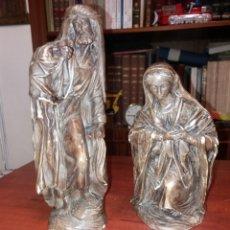 Arte: BELÉN , 2 FIGURAS TAMAÑO GRANDE 30 CM.. Lote 183755882
