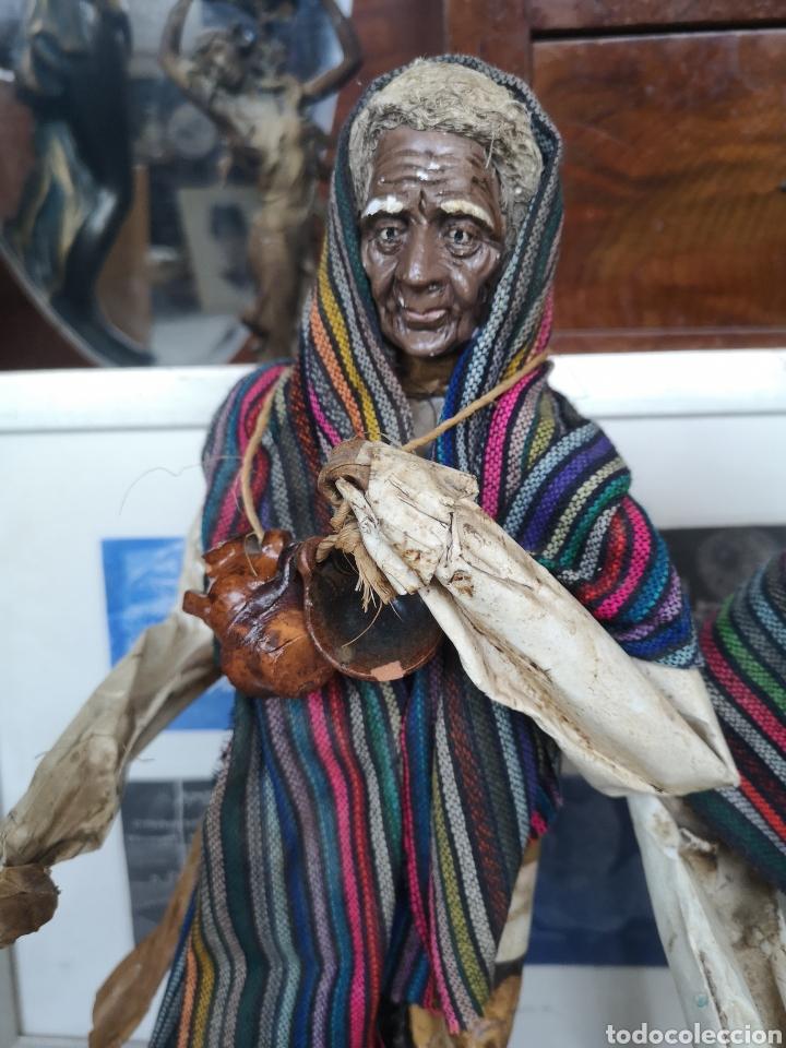 Arte: Pareja de figuras artesanales en papel mache. Xalisco, México. 50cm - Foto 3 - 184273905
