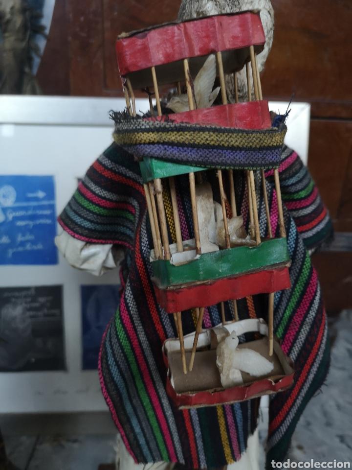 Arte: Pareja de figuras artesanales en papel mache. Xalisco, México. 50cm - Foto 8 - 184273905