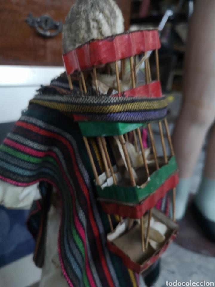 Arte: Pareja de figuras artesanales en papel mache. Xalisco, México. 50cm - Foto 9 - 184273905
