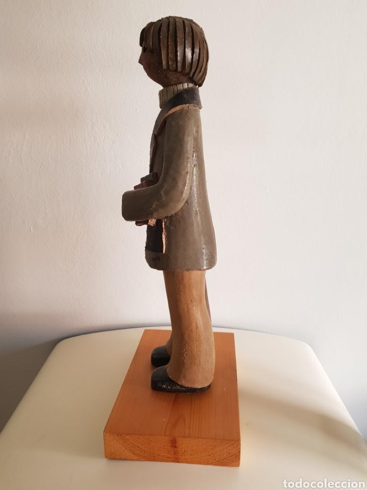 Arte: ESCULTURA NIÑO EN CERAMICA DE AUTOR JORDI AGUADE CLOS - Foto 4 - 184704703
