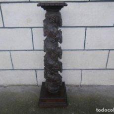 Arte: MUY ANTIGUA COLUMNA BARROCA , TALLA PROFUNDA . VER . Lote 184906998