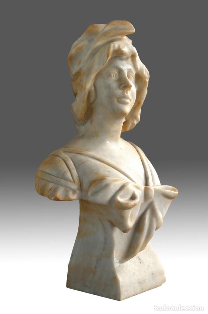Arte: Busto femenino. Mármol. Siglo XX. - Foto 2 - 185966726