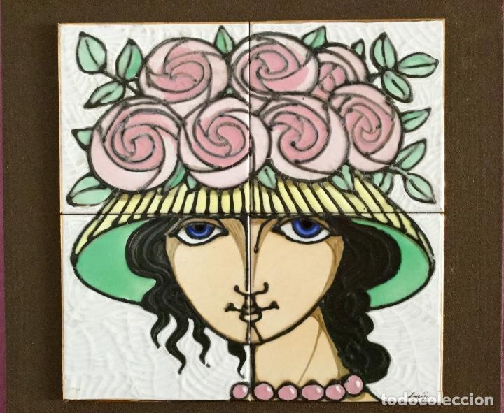 Arte: Cerámica con rostro femenino policromado - Foto 2 - 186296742