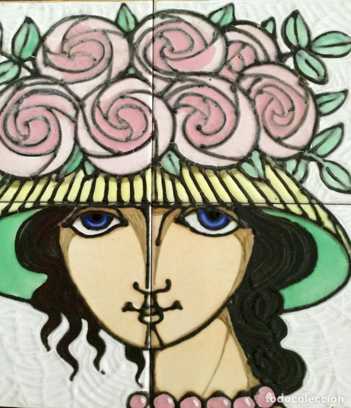 Arte: Cerámica con rostro femenino policromado - Foto 3 - 186296742