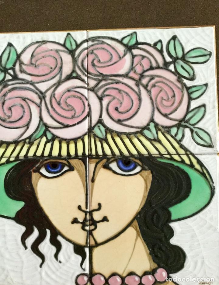 Arte: Cerámica con rostro femenino policromado - Foto 4 - 186296742