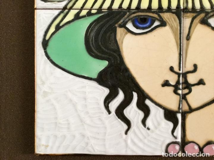 Arte: Cerámica con rostro femenino policromado - Foto 7 - 186296742