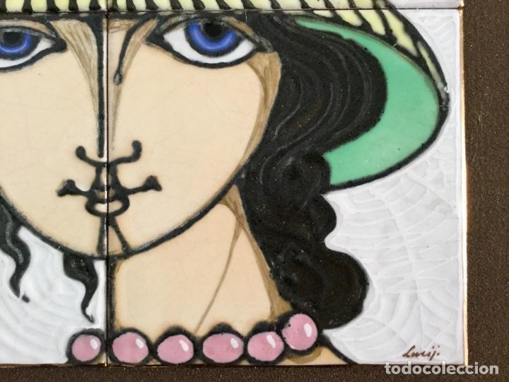 Arte: Cerámica con rostro femenino policromado - Foto 8 - 186296742