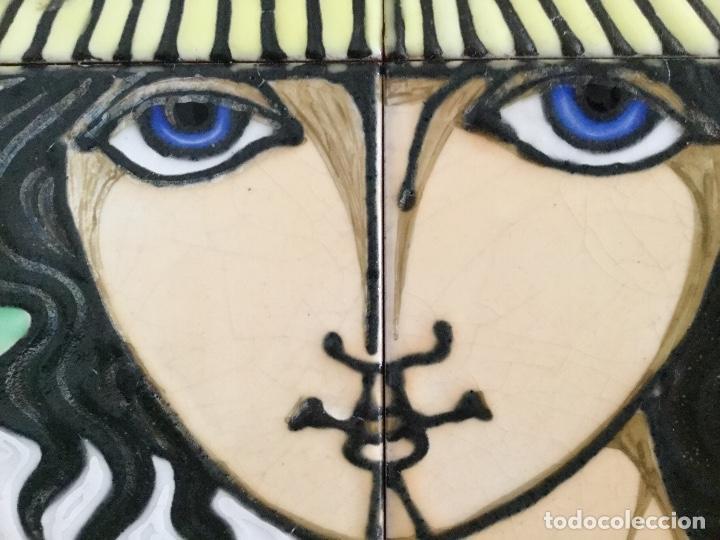 Arte: Cerámica con rostro femenino policromado - Foto 9 - 186296742