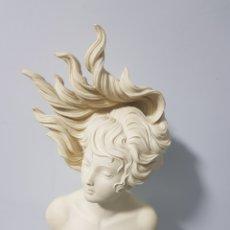 Arte: ESCULTURA - BUSTO DE MUJER ESTILO MODERNISTA - CON FIRMA. Lote 188523388