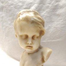 Arte: ANGEL BUSTO ADOLESCENTE MODERNISTA DE CERA. MED. 24 CM. Lote 188720273