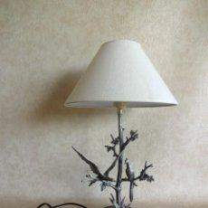 Arte: ANTIGUA LAMPARA ESCULTURA FIRMADA POR S. AGUDO RESTAURADA BRONCE BAÑADA EN PLATA. Lote 149951270
