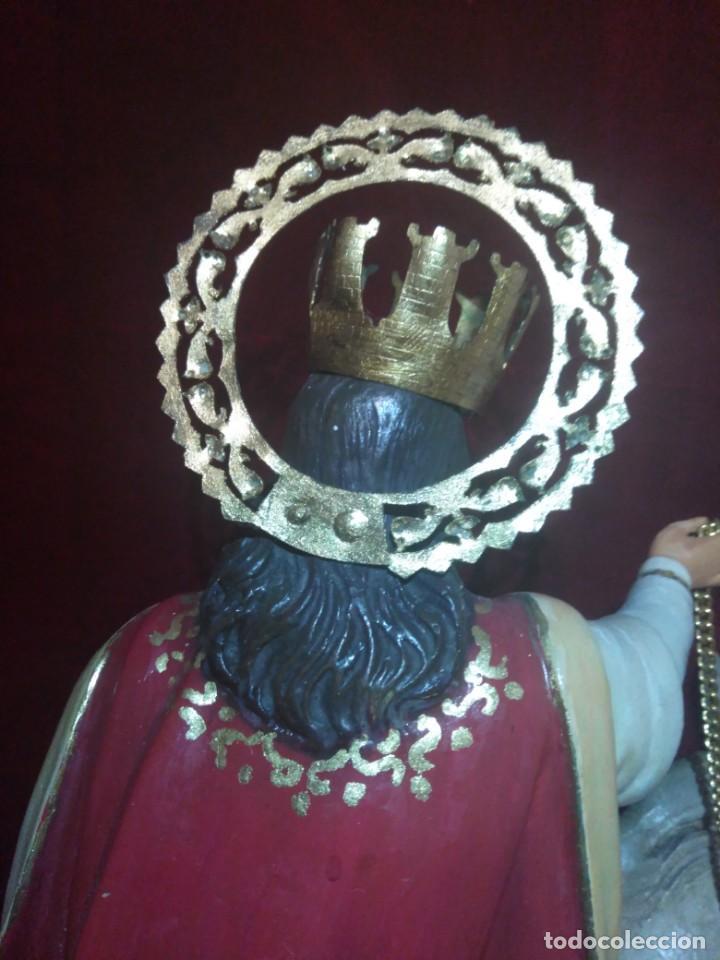 Arte: Magnífica y bellísima escultura de imagen religiosa de Santa Bárbara, posiblemente Olot. - Foto 28 - 189716415