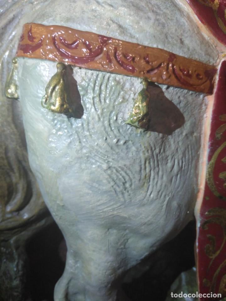 Arte: Magnífica y bellísima escultura de imagen religiosa de Santa Bárbara, posiblemente Olot. - Foto 30 - 189716415