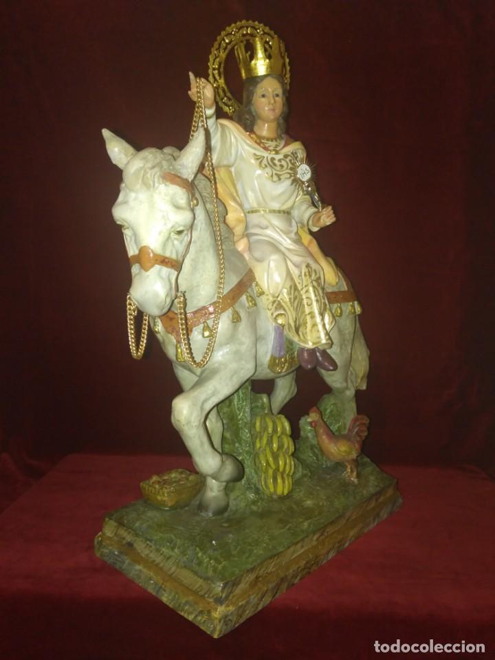 Arte: Magnífica y bellísima escultura de imagen religiosa de Santa Bárbara, posiblemente Olot. - Foto 32 - 189716415