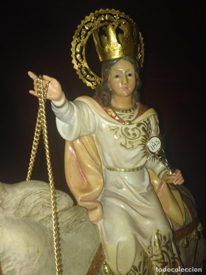 Arte: Magnífica y bellísima escultura de imagen religiosa de Santa Bárbara, posiblemente Olot. - Foto 34 - 189716415