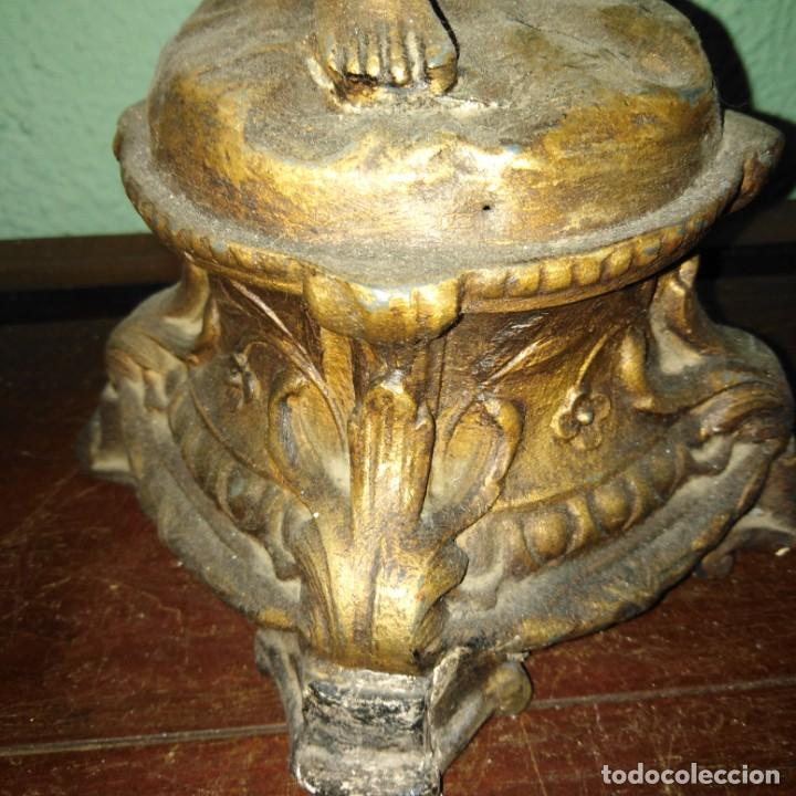 Arte: Antigua Escultura de calamina Art Nouveau, siglo xix - Foto 7 - 189890836