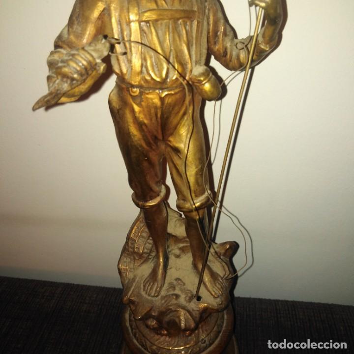 Arte: Antigua Escultura Art Nouveau de calamina dorada al mercurio, siglo xix - Foto 2 - 190450402