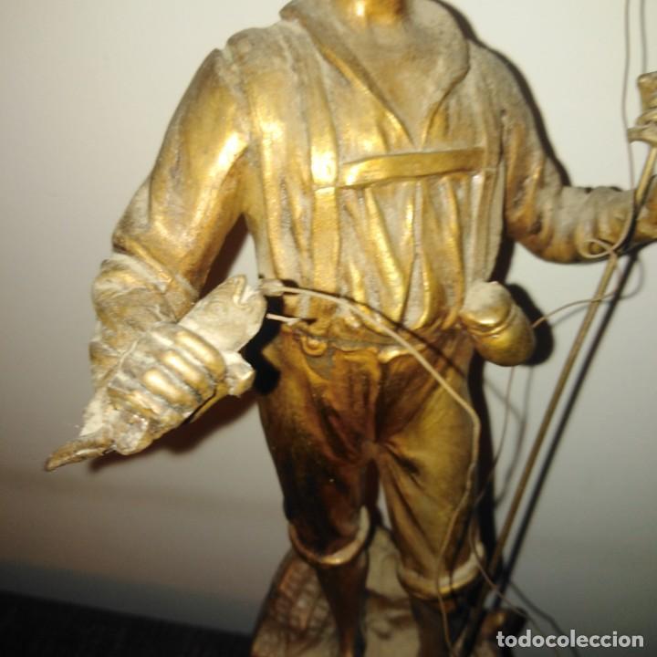 Arte: Antigua Escultura Art Nouveau de calamina dorada al mercurio, siglo xix - Foto 6 - 190450402