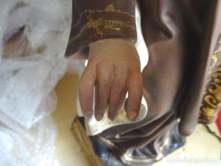 Arte: 72 cmts .-figura virgen del carmen.grande, siglo XX. - Foto 11 - 183680356