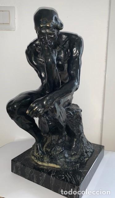 FIGURA ESCULTURA PENSADOR DE RODIN GRANDE (Arte - Escultura - Otros Materiales)