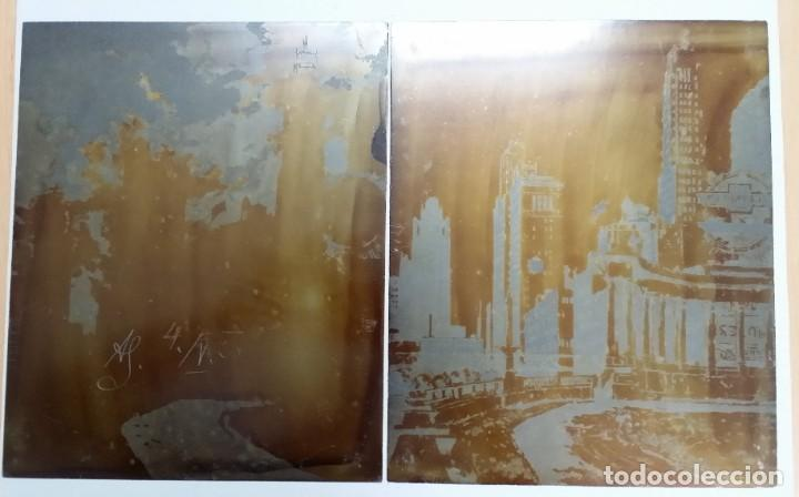 HANS FIGURA, 2 PLANCHAS ORIGINALES PARA GRABADOS A LA AGUATINTA, CHICAGO, 1930 (Arte - Escultura - Otros Materiales)
