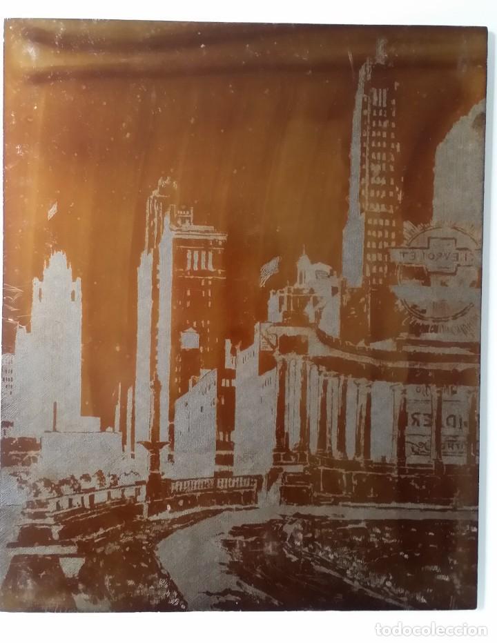Arte: Hans FIGURA, 2 planchas originales para grabados a la aguatinta, CHICAGO, 1930 - Foto 2 - 191351975
