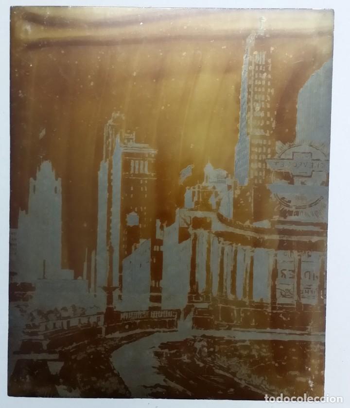 Arte: Hans FIGURA, 2 planchas originales para grabados a la aguatinta, CHICAGO, 1930 - Foto 12 - 191351975