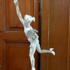 Arte: GRANDE Y ANTIGUA ESCULTURA , TALLER DE ARTISTA , MERCURIO , ORIGINAL PRINCIPIO DE 1900. Lote 191402435
